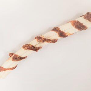 Handgerolde runderhuid rol omwikkeld met runderuier 26,5 cm