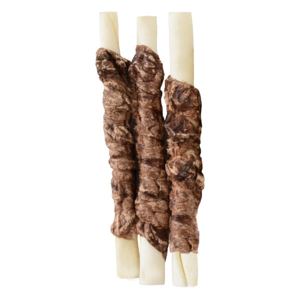 Runderhuid stick centraal omwikkeld met long 12,5 cm