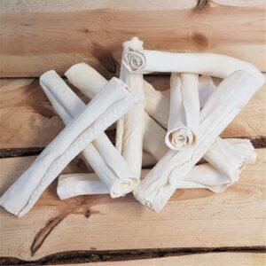 11 stuks voordeelbundel | Handgerolde rollen van runderhuid 21,5 cm