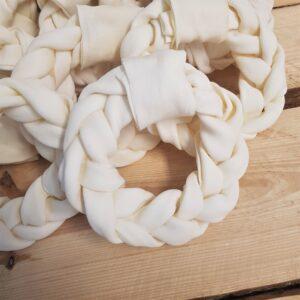 voordeelbundel Handgevlochten runderhuid donut 14 cm