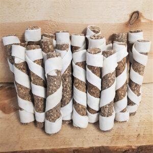 Munchy stick met lever met extra runderhuid 12,5 cm