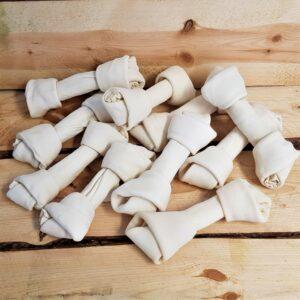 10 stuks voordeelbundel | Handgeknoopt runderhuid bot 21,5 cm